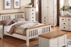 Heritage - solid oak with a stone colour painted finish