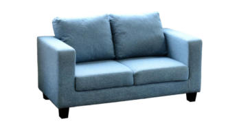 Tempo Two Seater Sofa in a Box in Blue Fabric